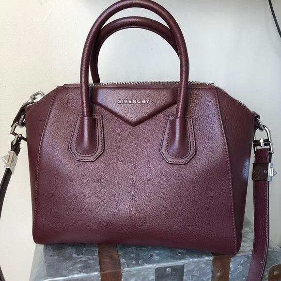 8ca6a688fa Givenchy Handbags - Givenchy Small Burgundy Leather Antigona